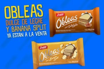 Nuevas Obleas Dulce de Leche y Banana Split!